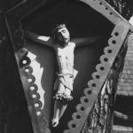 Przydrożna kapliczka, Nowica, lata 1918 - 1939, fot. Narodowe Archiwum Cyfrowe